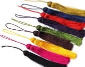 4 Pcs Tassels silky jewelry tassels earrings tassles bracelets or necklaces silk tassels satin silk tassles pompon C031