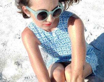 Aqua Blues Summer Blues daisy babydoll dress
