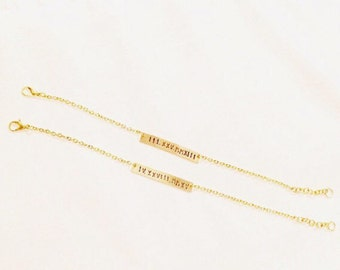 Gold or Silver Bar Bracelet
