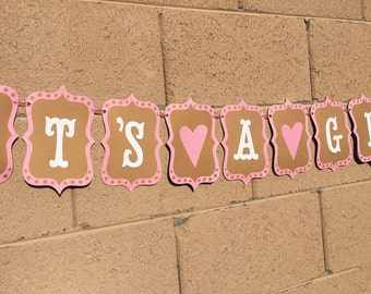 It's a girl, baby girl, baby shower, baby banner