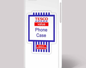Tesco Value Funny Retro Quirky Mobile Cell iPhone Cover 4/4S 5/5S 5C 6 6 Plus Phone Case