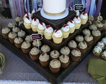 Rustic Wedding or Birthday Party Cupcake Stand