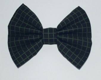 Grid Hair Bow
