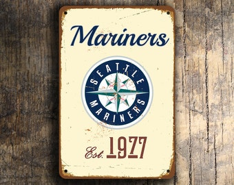 SEATTLE MARINERS SIGN, Vintage style Seattle Mariners Sign, Mariners Baseball, Mariners Baseball Sign,Mariners,Baseball Gift, Baseball Decor