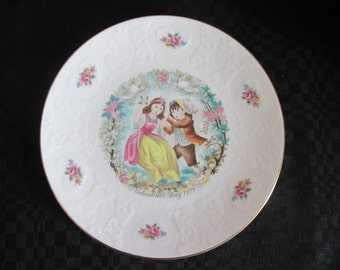 Vintage plate decorative My Valentine 1978 / Vintage Decorative plate My Valentine you 1978