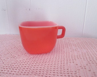 Vintage Glasbake square Cup