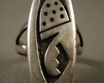 Wonderful Vintage Bueford Dawahoya Silver Ring
