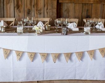 Just Married - Burlap Wedding Banner