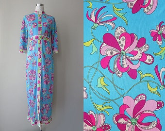 60s Emilio Pucci Dressing Gown, In-House Dress, S