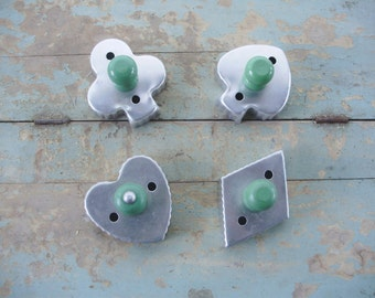 Green Handled Tin Cookie Cutters