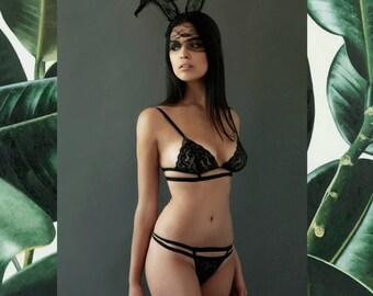 Black elegance lingerie set from 7ann
