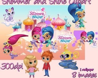 Shimmer and Shine Digital ClipArt