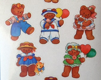 Sailor Bears,and orher cute bears vintage Current stickers,1985