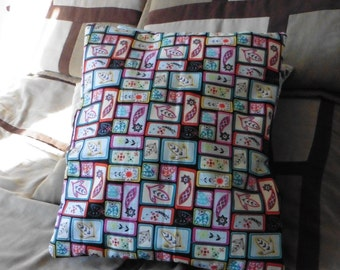 "Colorful Cat Pillow  16"" x 18"""