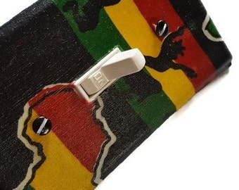 Africa Light Switch Cover/ African Switch plate / Ethnic Decor / African Home Decor