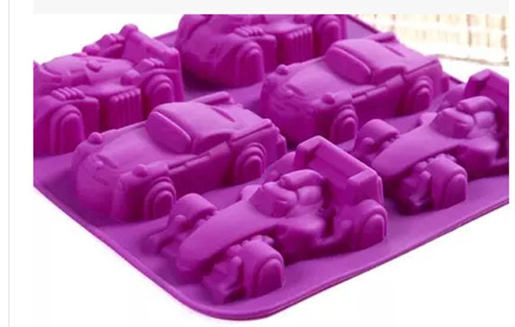 Car Molds For Cake Decorating : Racing car silicone mold candle molds fondant cake