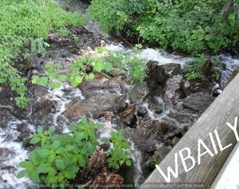 Photography - Water running rocks