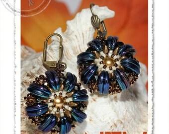 Trynni  beaded earrings PDF pattern