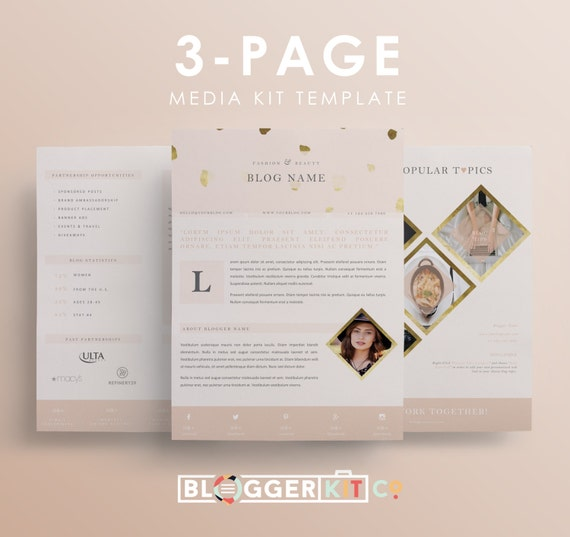 free electronic press kit template - three page media kit template press kit template by