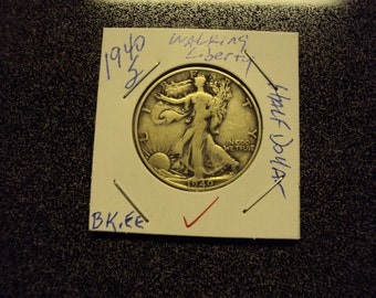 1940 S  Walking Liberty Silver Half Dollar