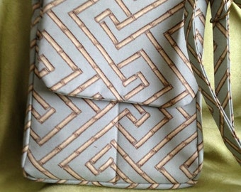 Bamboo Print Bag, Messenger Bag, Purse, Shoulder Bag w/Cosmetic Bag