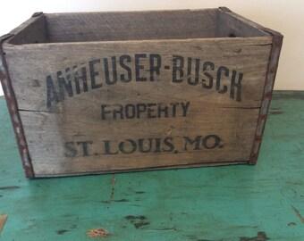 1944 Anheuser Busch Beer Crate