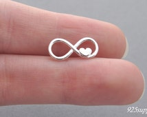925 Sterling Silver Infinity Charm, Silver Infinity Pendant, Bracelet Infinity Charm, 925 Silver Charm, Sterling Silver Infinity Charm,