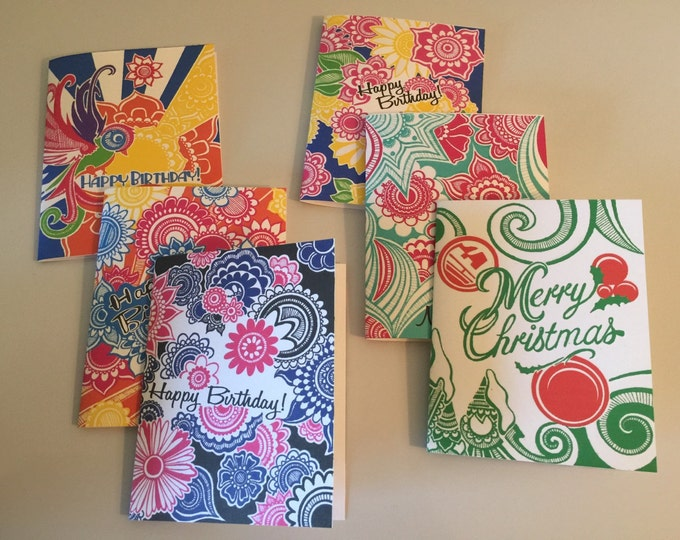 Six Pack Greeting Cards