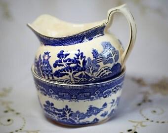 Vintage Arklow jug and bowl set