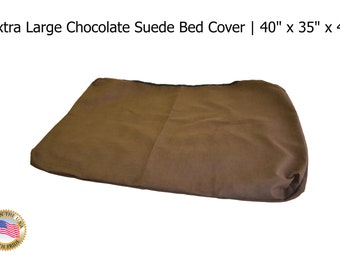 """Extra Large Chocolate Suede Bed Cover 