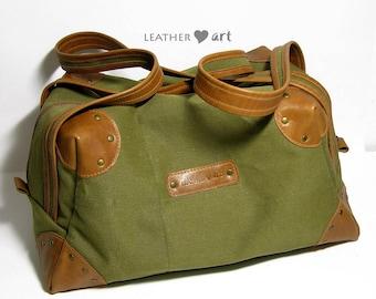 Canvas Sports bag - khaki