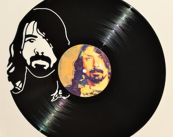 Dave Grohl Nirvana Foo Fighters Record Wall Art