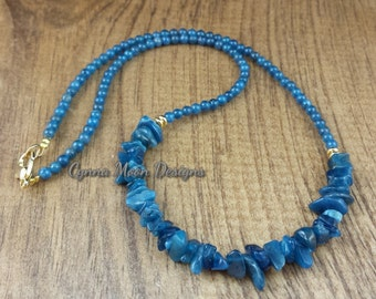 Teal Apatite Necklace
