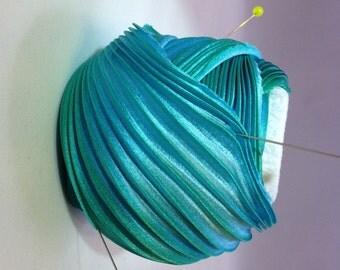 Silk ribbons Shibori N 82