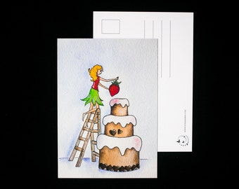 Birthday Cake - postcard