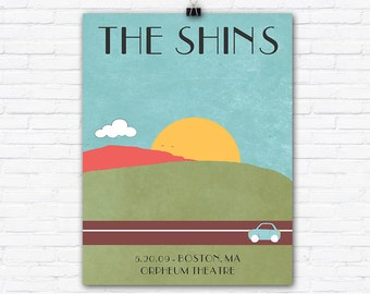 Rock Gig Poster - The Shins - Graphic Art Illustration