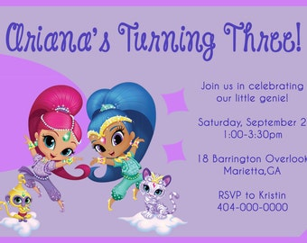 Party Invitation: Shimmer and Shine