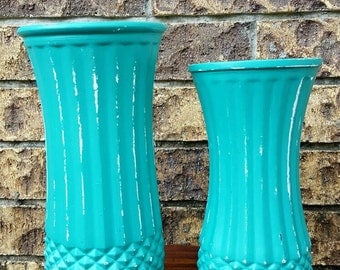 Large shabby chic vase, distressed vases, wedding décor, wedding vases, center piece