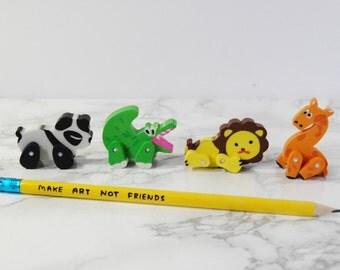 Jungle Eraser - Lion Eraser - Panda Eraser - Crocodile Eraser - Jungle Stationery - Petit Bout de France