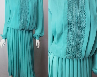 Teal vintage dress by Kathy J