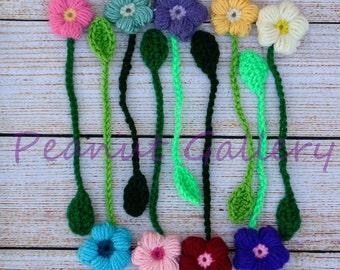Crochet Flower Bookmarks