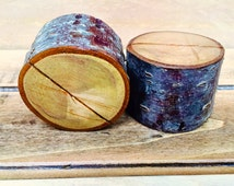 Rustic Wooden Table Name Card Holders