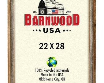 Barnwood Signature Photo Frame 22x28, Weathered Gray, Rustic Home Decor