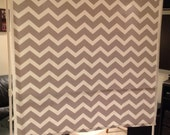 Gray Chevron Photo Booth Backdrop with STAND, Photography Backdrop, DIY Photobooth