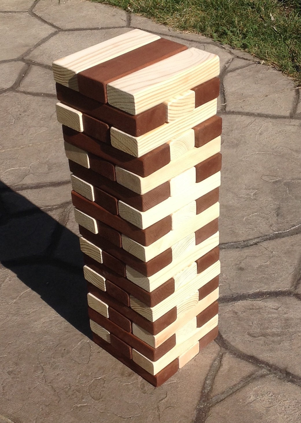jumbo wood blocks game wooden blocks corporate event game. Black Bedroom Furniture Sets. Home Design Ideas