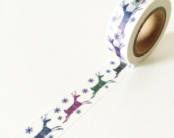 Christmas Reindeer Party Washi Tape
