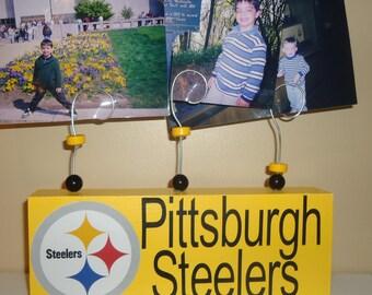 Pittsburgh Steeler picture frame, custom steeler picture frame, pittsburgh steeler decor