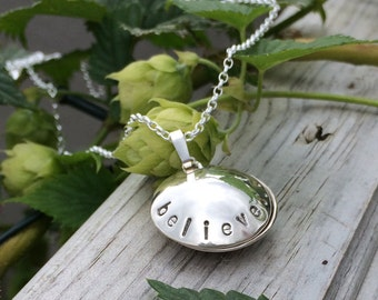 Sterling Silver Hidden Secret Pendant