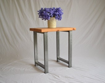 Rustic Industrial End Table