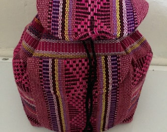 Small Artisanal Mexican Backpack